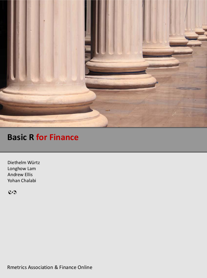 statistics and data analysis for financial engineering with r examples